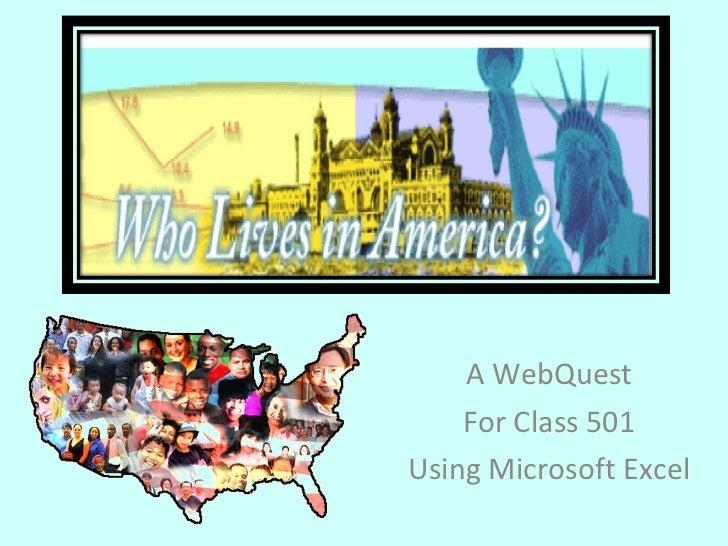Immigration Excel WebQuest