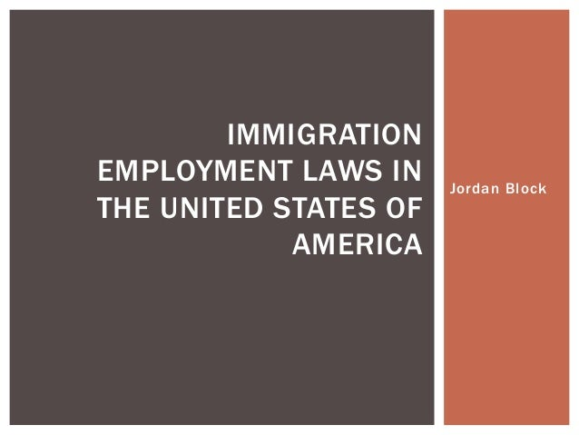 Immigration laws in the united states of america