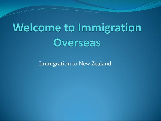Immigration Overseas Experts for Immigration NZ