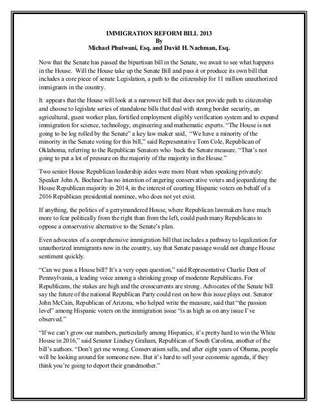Immigration reform bill 2013