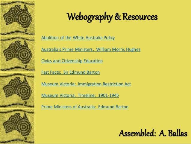 Abolition of the White Australia Policy Essay
