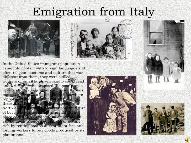 Italian immigration essay