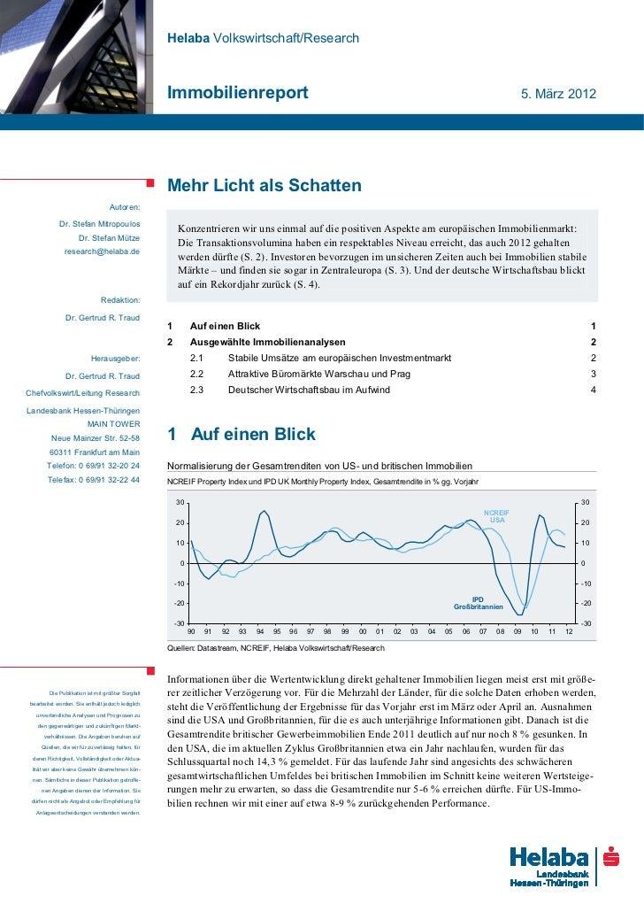 Helaba Volkswirtschaft/Research                                                    Immobilienreport                       ...