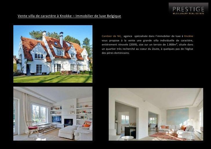 Immobilier de luxe belgique   vente appartement et maison knokke heist