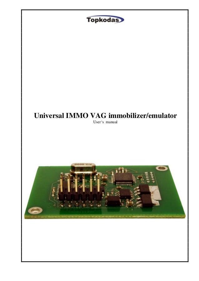 Universal IMMO VAG immobilizer/emulator - User's manual