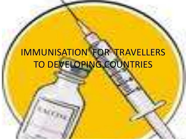 Immunisation  for  travellers to developing countries