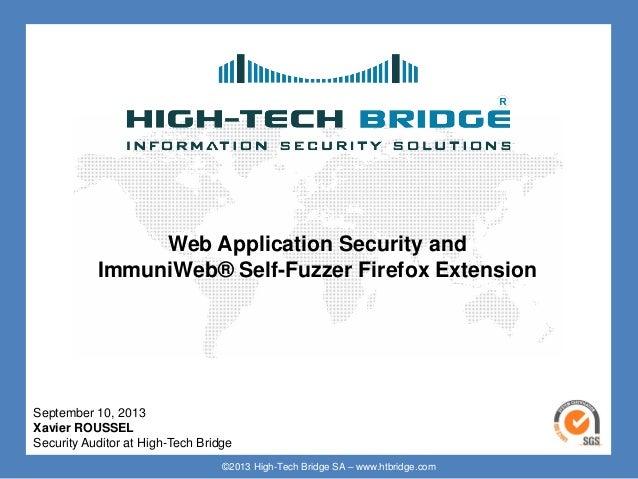 ImmuniWeb® Self-Fuzzer Firefox Extension