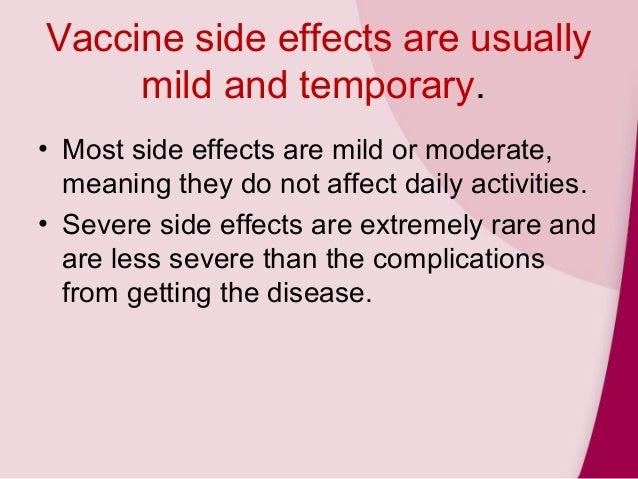 mmr vacine side effects