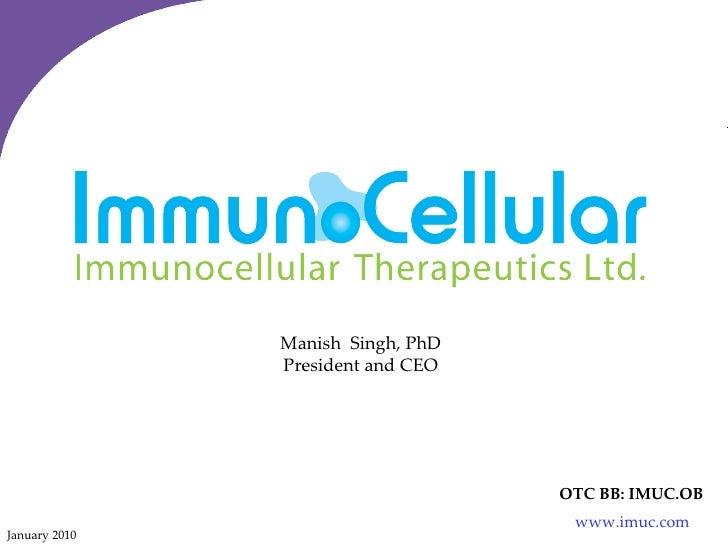 ImmunoCellular Investor Presentation