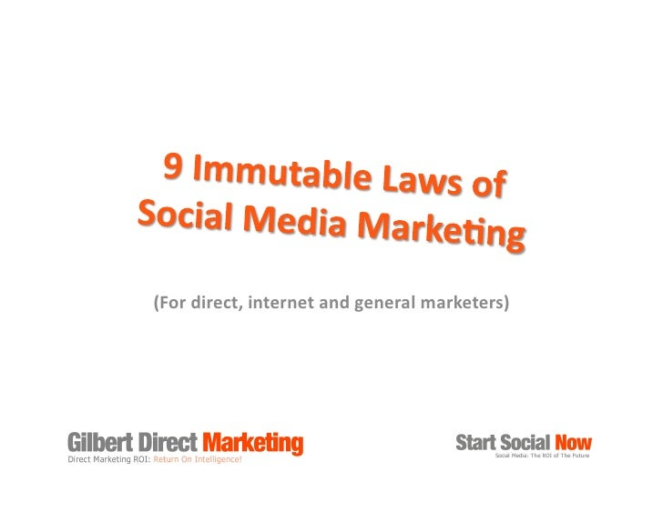 The 9 Immutable Laws of Social Media Marketing