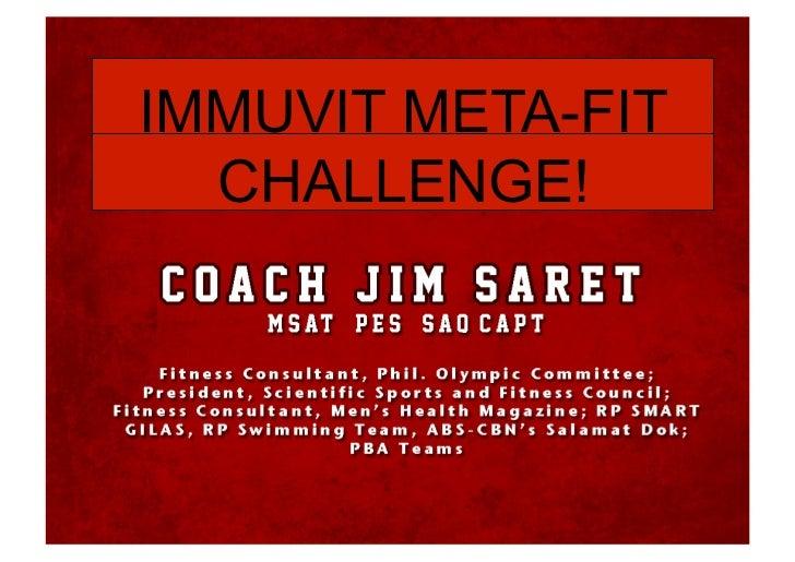 Immuvit MetaFit Challenge
