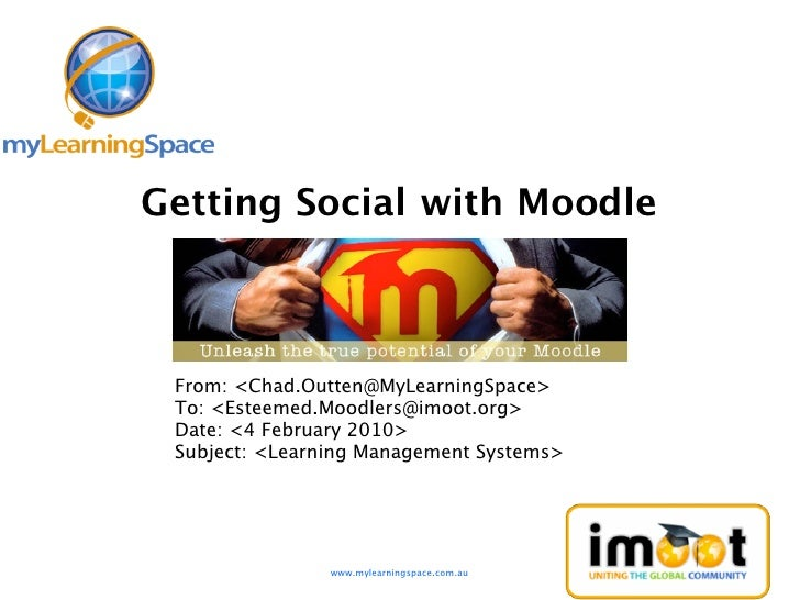 iMoot 2010 - Getting Social with Moodle