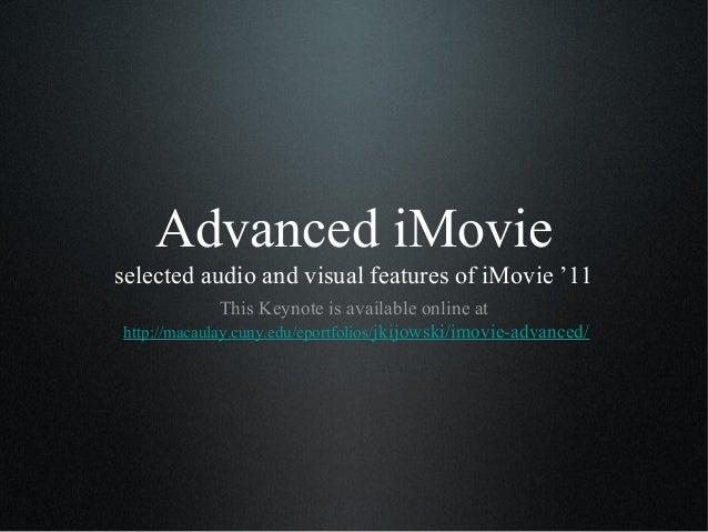 Advanced iMovie