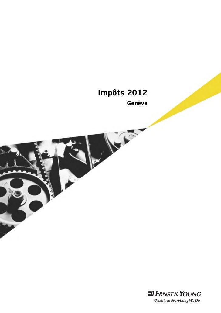 Impôts 2012      Genève               t