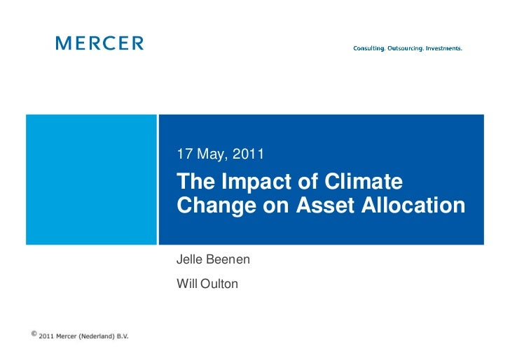 The Impact of Climate Change on Asset  Allocation