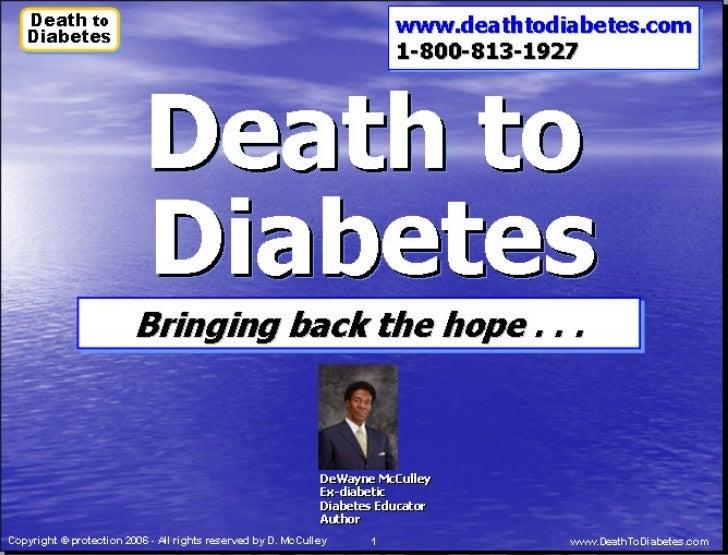Death to Diabetes: Impact of  Type 2 Diabetes