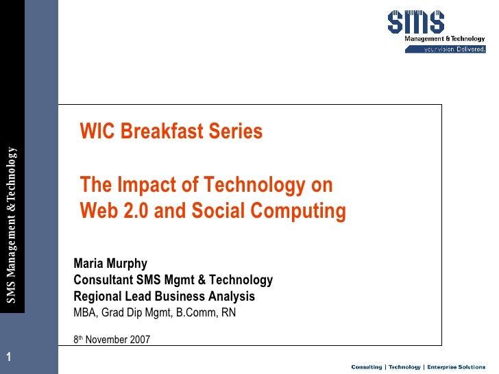 Impact Of Technology   Social Computing   V4.0