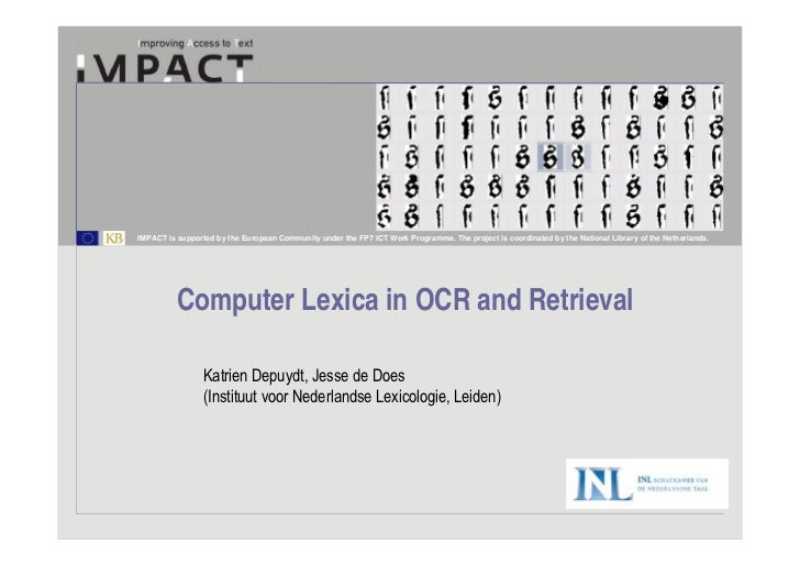 Computer Lexica in OCR and Retrieval