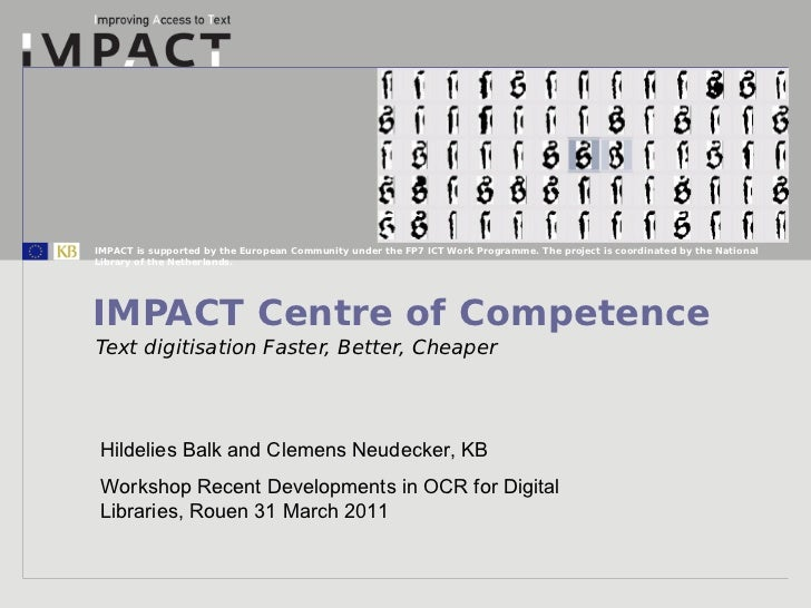 Impact centre of_competence_for_workshop_ocr_rouen_march_2011[1]