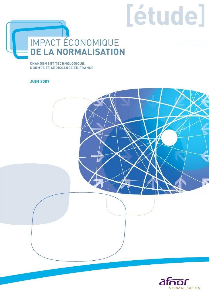 Impact Economique de la Normalisation - Afnor
