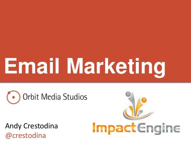 Email Marketing: Impact Engine presentation at 1871 Chicago with Andy Crestodina