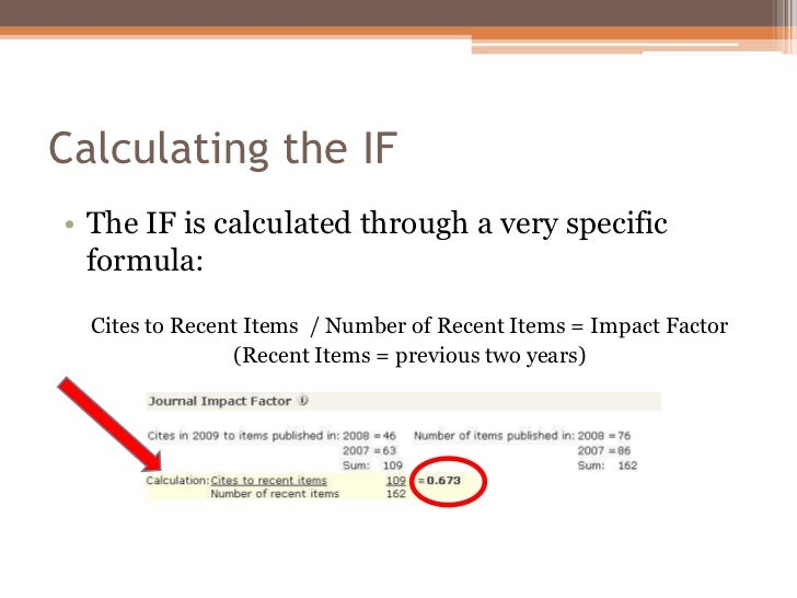 How To Calculate Impact Factor Of A Research Paper