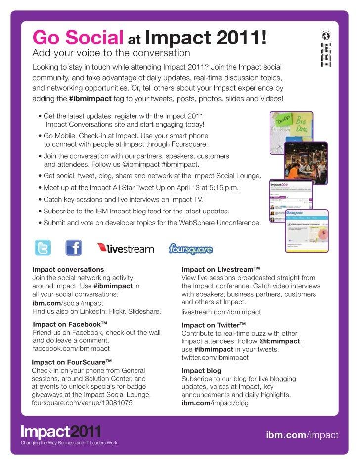 Go Social at Impact 2011