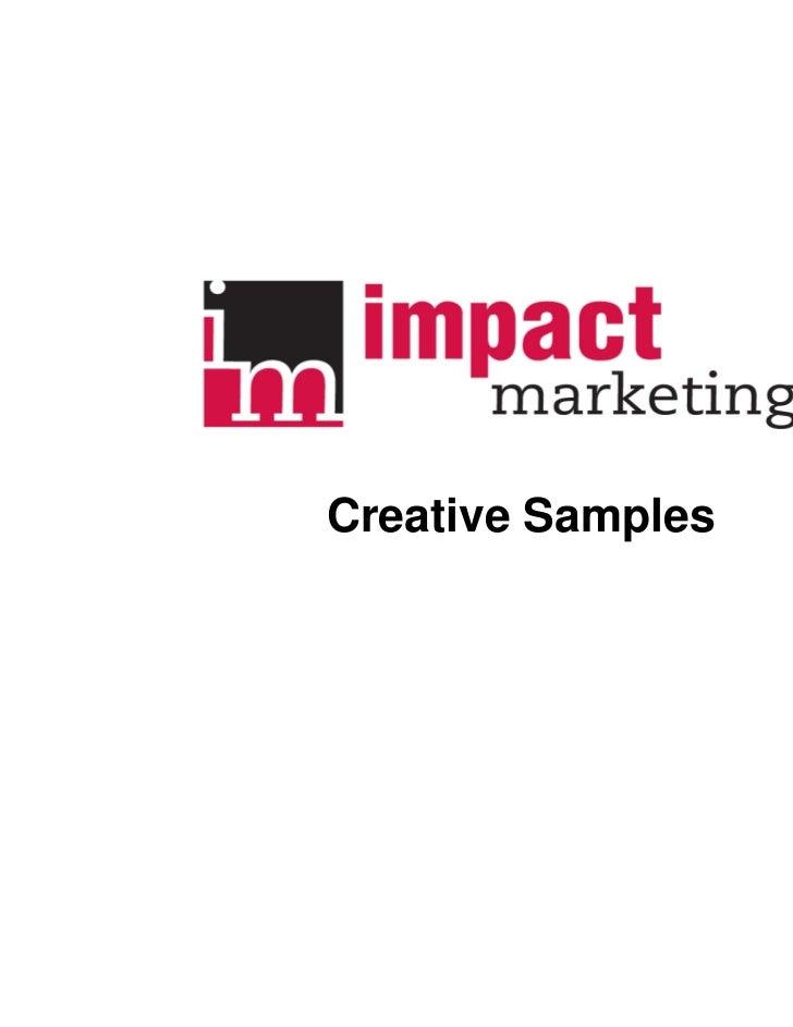 Creative Samples