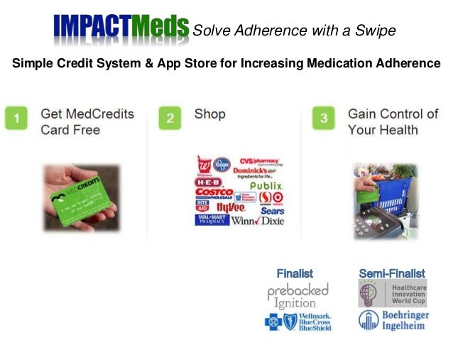 Simple Credit System & App Store for Increasing Medication Adherence Semi-FinalistFinalist Solve Adherence with a Swipe