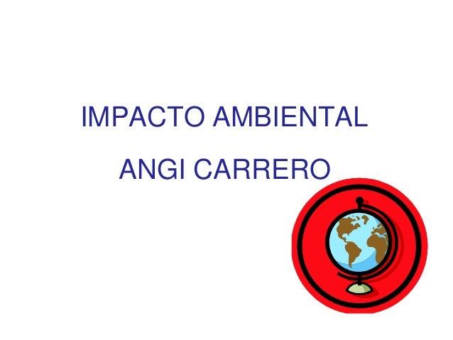 IMPACTO AMBIENTAL ANGI CARRERO