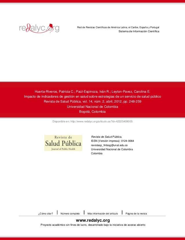 Disponible en: http://www.redalyc.org/articulo.oa?id=42225409005 Red de Revistas Científicas de América Latina, el Caribe,...