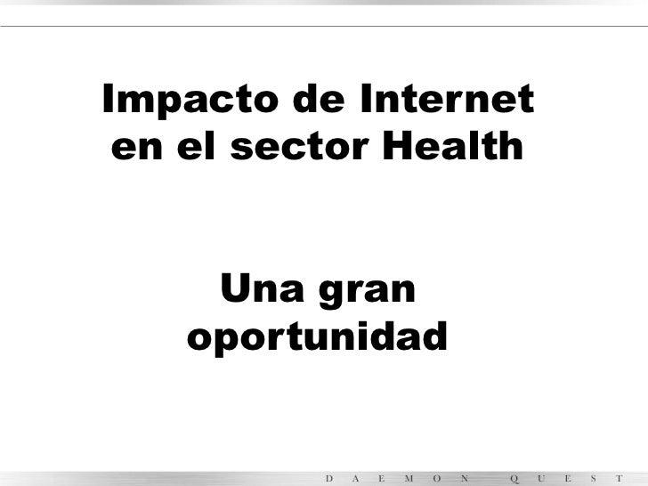 Impacto de internet en el sector health