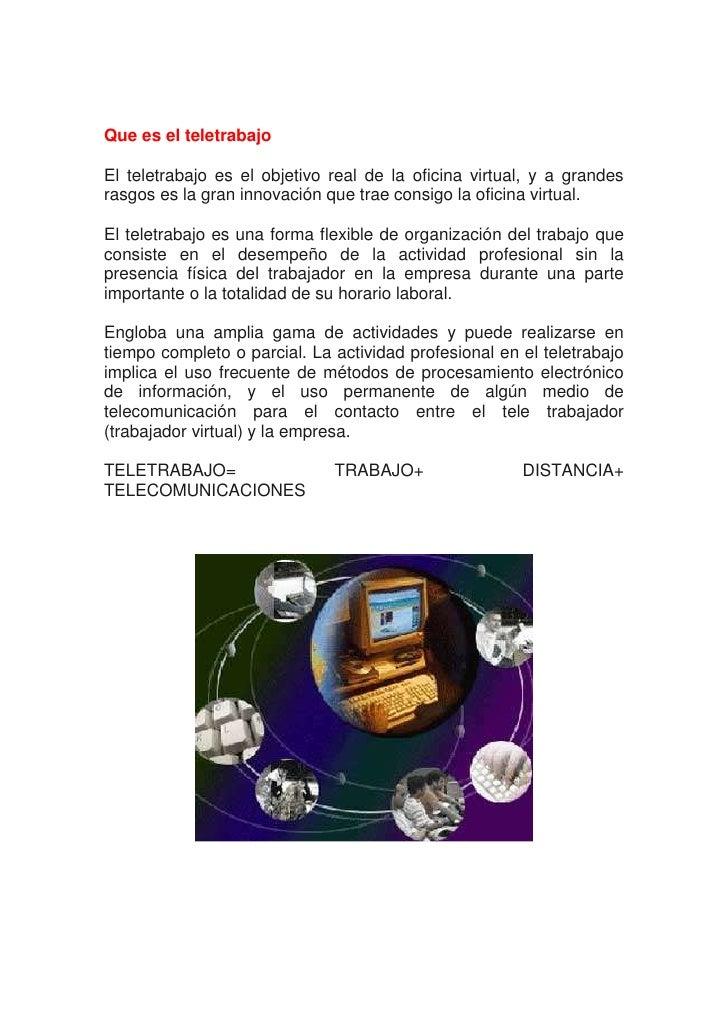 Impacto de la oficina virtual en el area de servicios for Que es una oficina virtual
