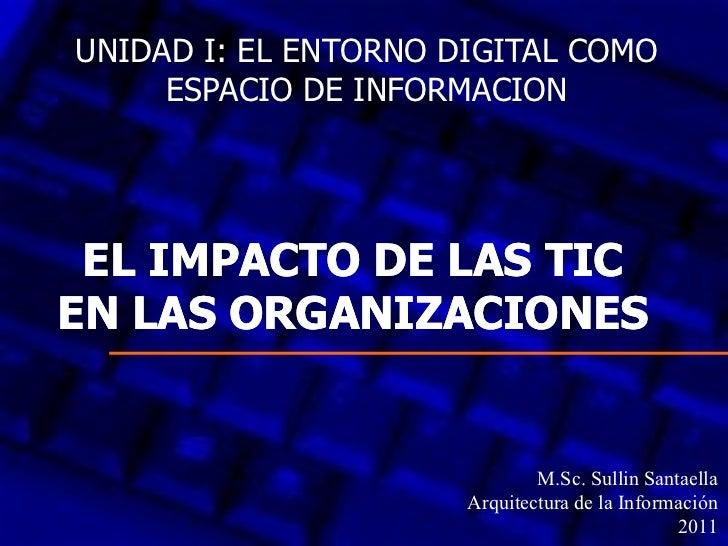 UNIDAD I: EL ENTORNO DIGITAL COMO     ESPACIO DE INFORMACION EL IMPACTO DE LAS TICEN LAS ORGANIZACIONES                   ...