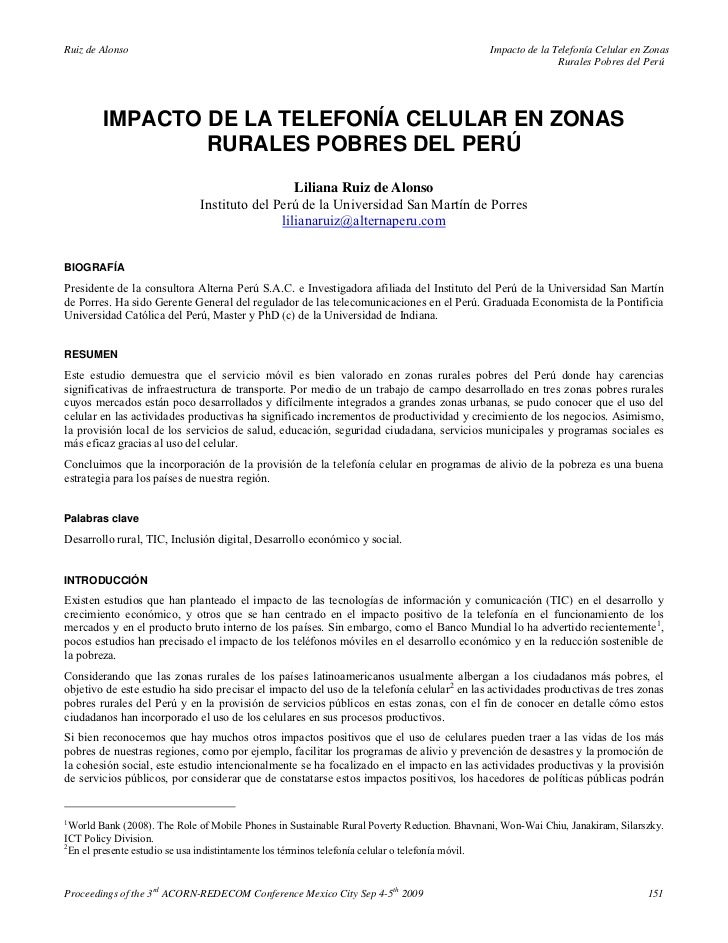 Ruiz de Alonso                                                                               Impacto de la Telefonía Celul...