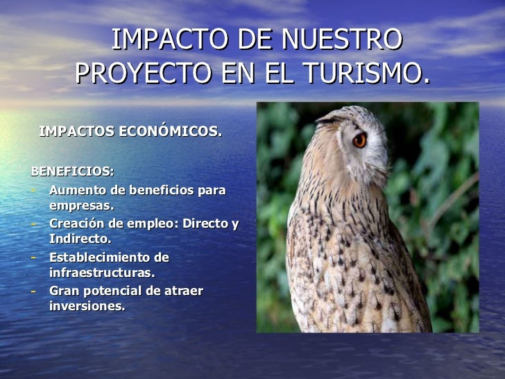 IMPACTO DE NUESTRO PROYECTO EN EL TURISMO. <ul><li>IMPACTOS ECONÓMICOS. </li></ul><ul><li>BENEFICIOS: </li></ul><ul><li>Au...