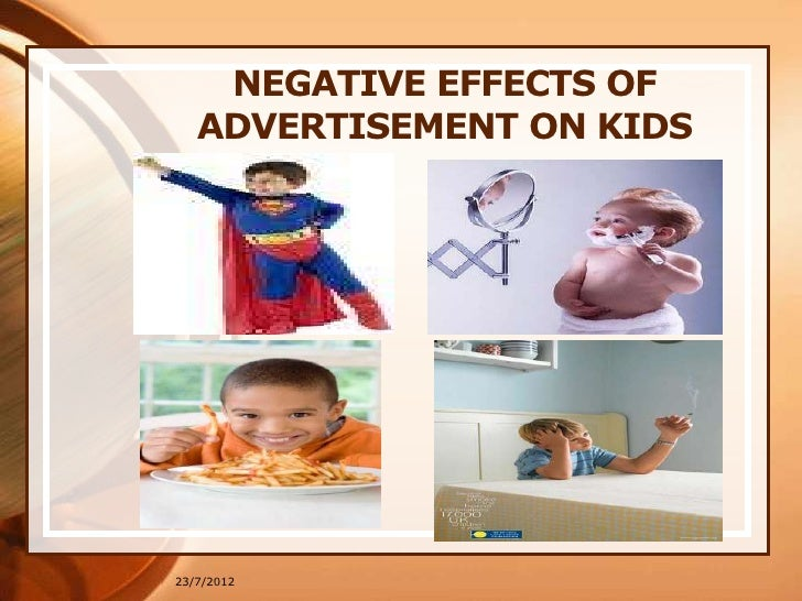 the negative effects of advertising The positive and negative effects of advertising on consumer behavior 1645 words | 7 pages advertising is an information source to inform people about the products and new prices of the company which can help them to make informed choices.