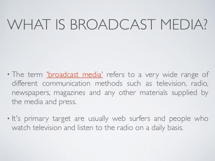 broadcast media notes Broadcast media notes chapter 2: sections 24 – 25 working with a microphone 2 main concepts mic-to-mouth distance mic-to-mouth position mic distance.
