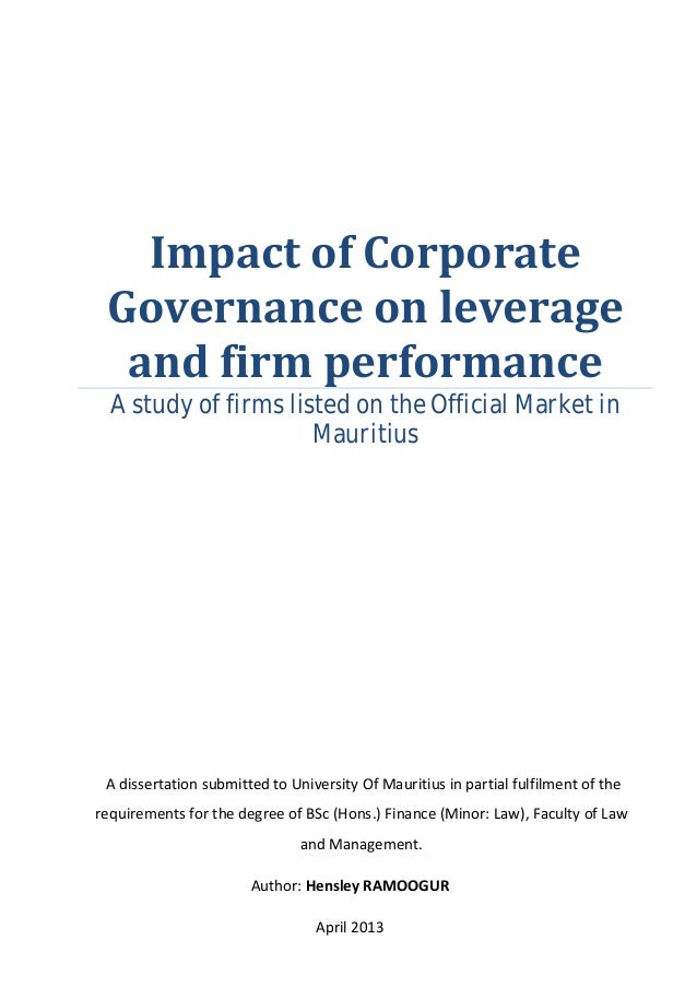 corporate governance score and firm performance The focus of corporate governance firms with better governance index scores should not outperform those with corporate governance and firm performance.