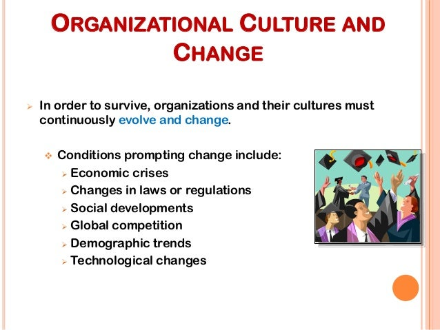 the influence of environmental and technological change on the structure of organizations The lack of environmental stability and predictability requires that managers and organizations continually adapt (manage change actively) to survive organizational change any alteration of people, structure, or technology in an organization.