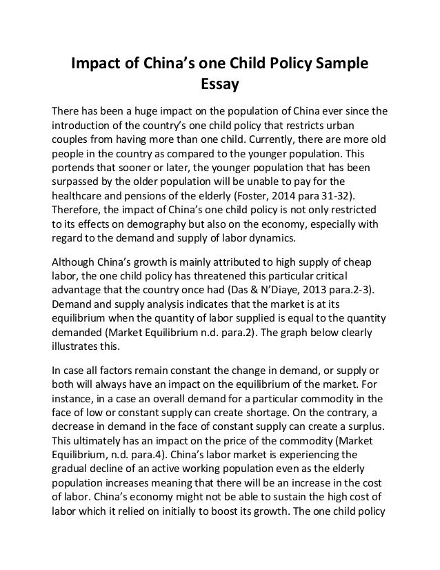 Abc news one child policy essay