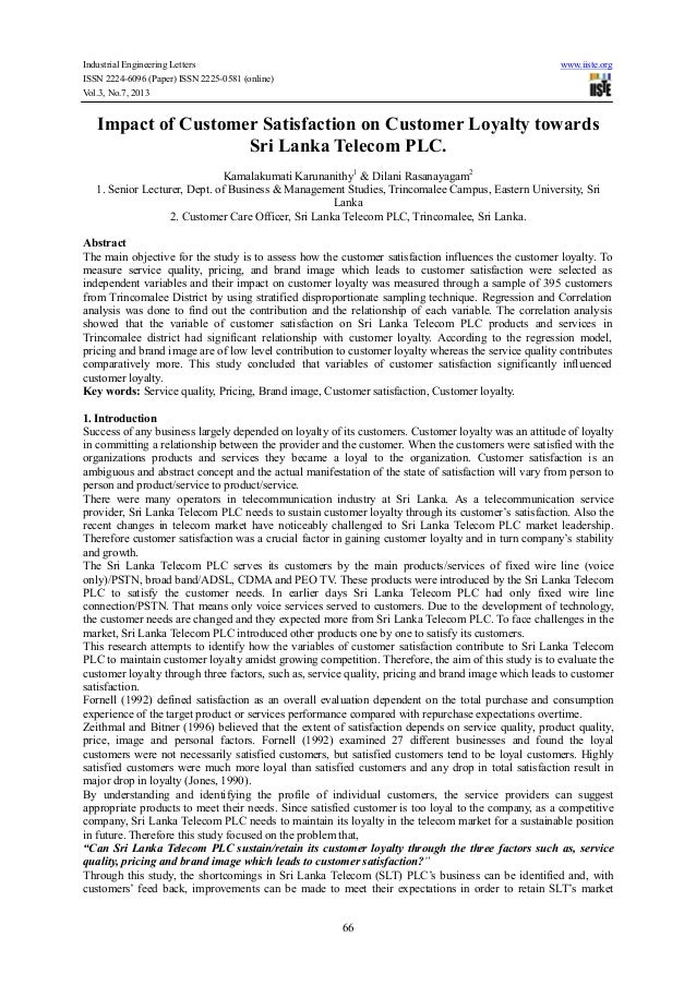 Industrial Engineering Letters www.iiste.org ISSN 2224-6096 (Paper) ISSN 2225-0581 (online) Vol.3, No.7, 2013 66 Impact of...