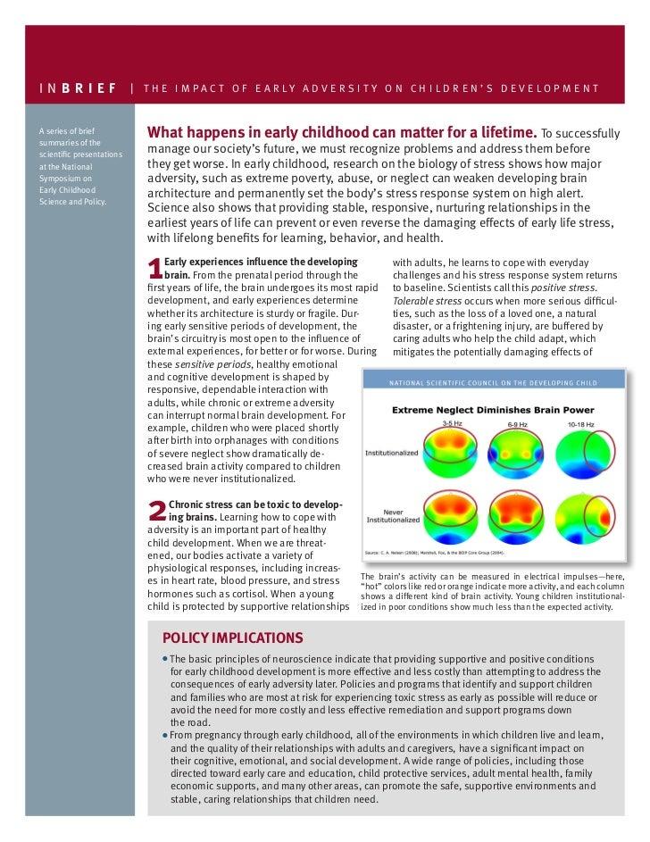 Impact of Early Adversity on Children's Development