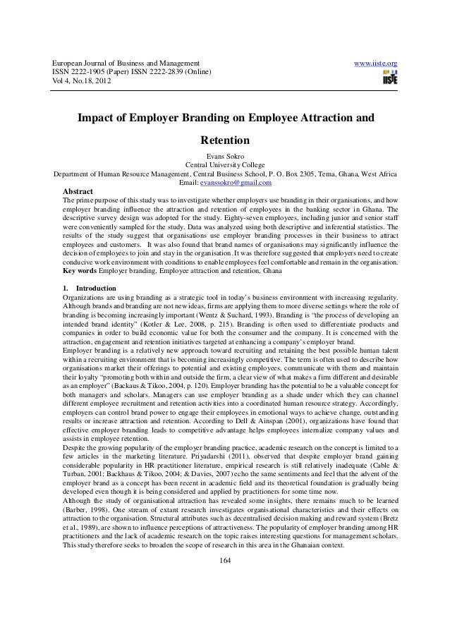 Impact of employer branding on employee attraction and