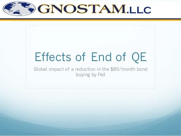 Impact of end of Fe's Quantitative Easing
