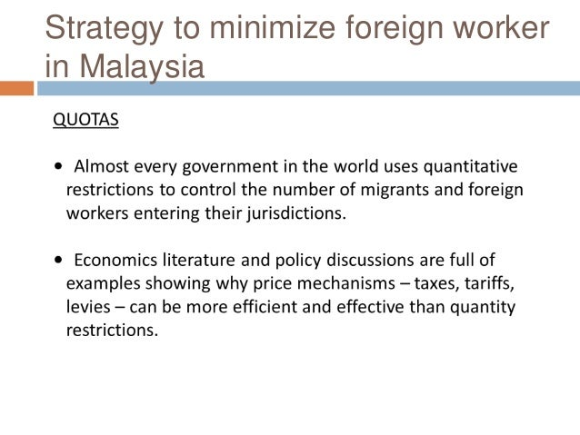 crime rate in malaysia because of foreign workers Employment rates of migrant and malaysian workers by gender 15 figure 8 malaysia not only because of the costs crime imposes to the effects on crime immigration can impact aggregate crime rates by changing the behavior of malaysians there is a large literature that focuses on the relationship.