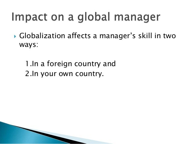 Globalization, diversity, leadership and organizational change