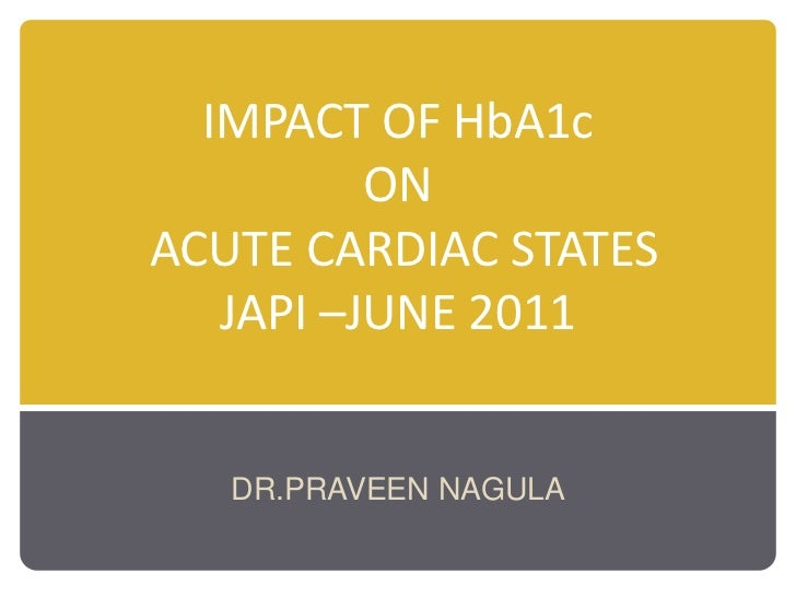 Impact of hba1 c