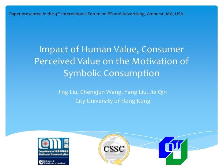 Paper presented in the 4th International Forum on PR and Advertising, Amherst, MA, USA.             Impact of Human Value,...