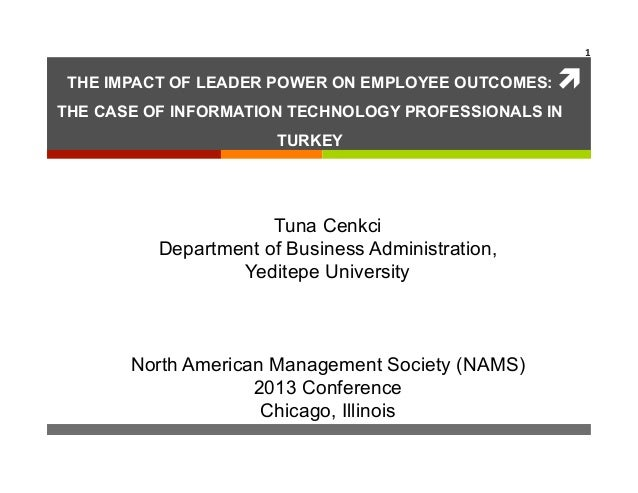1	   THE IMPACT OF LEADER POWER ON EMPLOYEE OUTCOMES:   ì	  THE CASE OF INFORMATION TECHNOLOGY PROFESSIONALS IN          ...